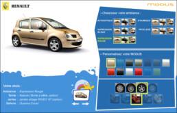Réalisation d'un Configurateur 3D Modus | Client: Renault | Agence: Publicis