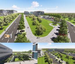 Campus en infographie 3D images de synthése
