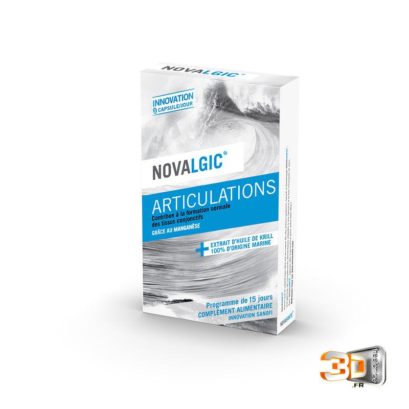 Design package Novalgic en 3D