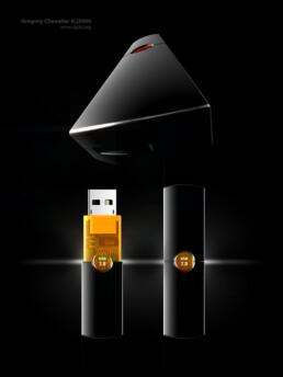 Modélisation 3D de la Clé Sony USB 2.0