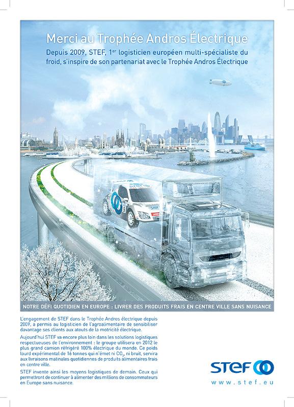 Client: STEF (le specialiste europeen de la logistique du froid)   Agence: Ideogramme   Création d'une affiche