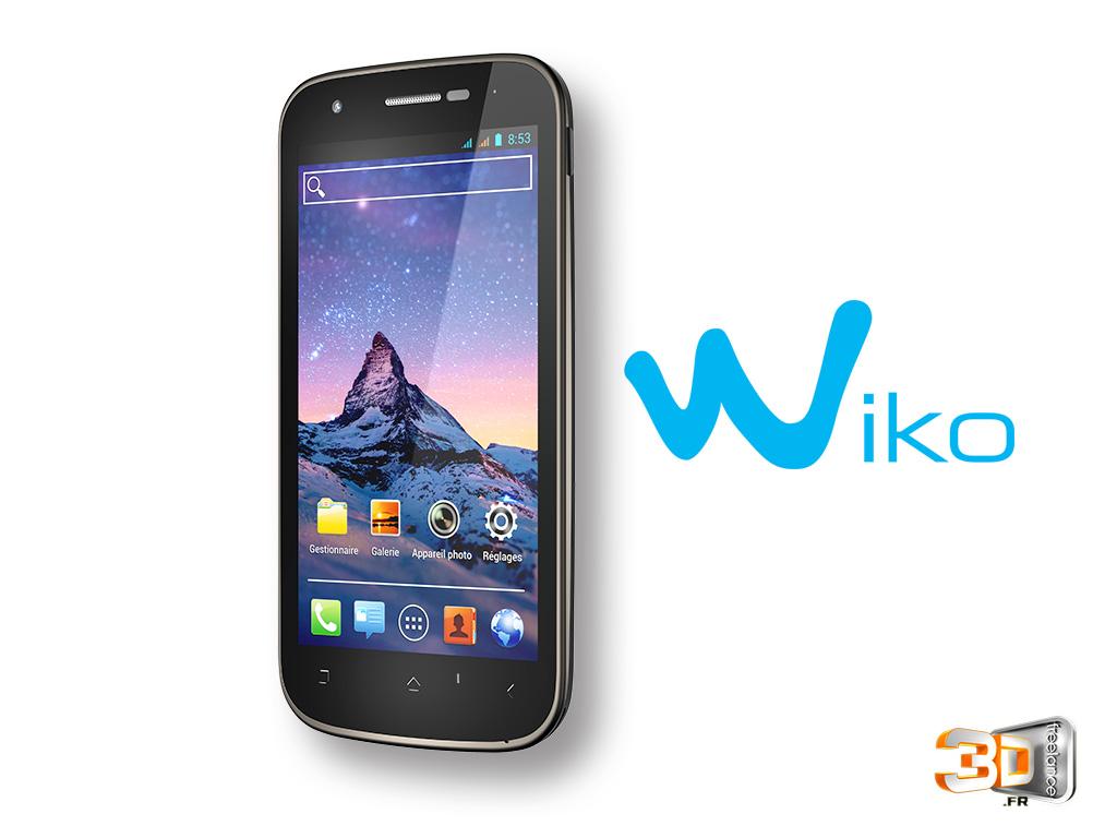Animation 3D du téléphone Wiko Cink Peax
