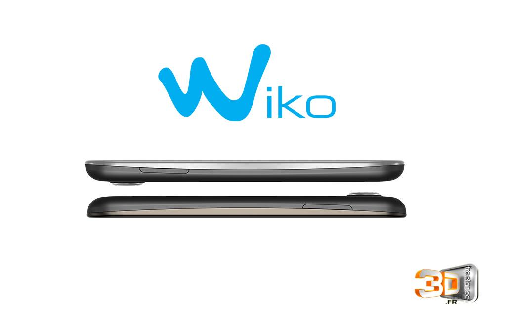 Modélisation 3D du téléphone Wiko Cink Peax