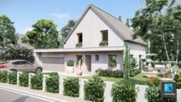 perspective 3d maison architecture - freelance immobilier