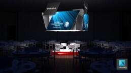 perspective 3d évènementiel freelance gcf2012 restaurant