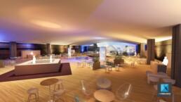 perspective 3d évènementiel forum Amundi