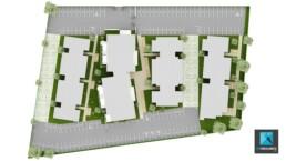 freelance 3d création plan de masse - résidence Perpignan