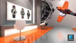 concepteur de magasin - concept- store horloger Hamilton