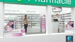 image 3d pharmacie - rendu 3d pharmacie