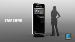 illustration évènementielle - borne tactile Samsung
