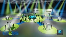 illustration évènementielle - scenographie congres enedis - perspectiviste