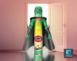 personnage bombe insecticide