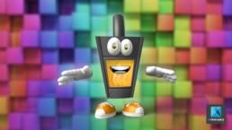 illustration personnage mascotte poêle