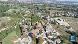 perspective 3d intégration vue drone - residence Grenoble
