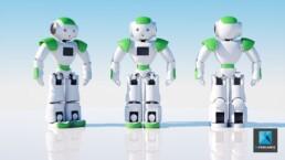 rendu 3d robot personnage