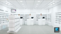 rendu 3d pharmacie - illustration
