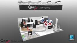 image 3d stand Q-park - designer de stand freelance