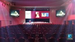 Scénographie plénière – Qatar – Roughman événementiel