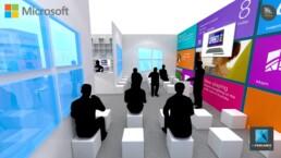 designer de stands - stand pour salon - Microsoft