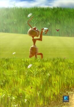 illustration 3d fourmi fourmille - personnage mascotte