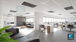 image 3d bureaux - rendu 3d bureaux