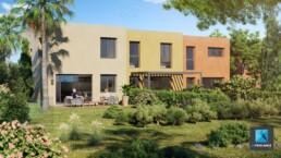 image 3d villas région PACA freelance architecture - cote d'azur
