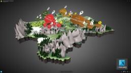 modélisation carte de france en 3D