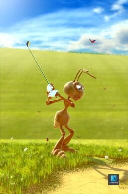 personnage 3d fourmi - illustration