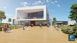 perspective 3d concours architecture - piscine