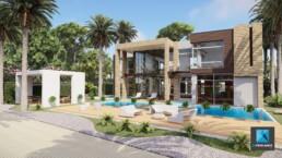 perspective 3d villa de luxe la reunion