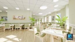 perspective 3d restaurant