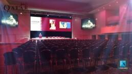 perspective 3d scénographie - plénière Qatar