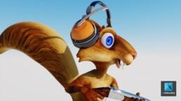 image 3d écureuil - personnage cartoon