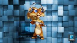 personnage écureuil - mascotte cartoon