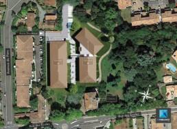 plan de masse 3d - residence Toulouse - perspectivisme