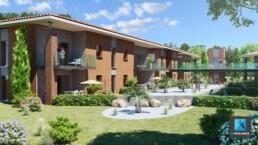 rendu 3d architecture - résidence Toulouse