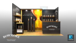 stand spiritueux - alcool Bowmore - conception