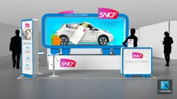 stand SNCF - perspectiviste 3D
