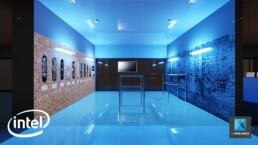 illustration 3D événementiel - atelier Intel