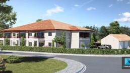 perspectives 3D résidence landes nouvelle-aquitaine