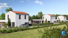 image 3d résidence à Lyon