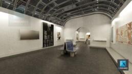 rendu 3d galerie art contemporain