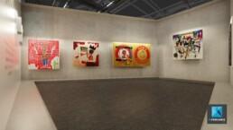 visite virtuelle galerie art