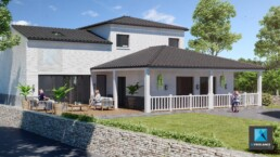 illustration 3D maison Castelnaudary