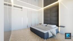 image 3d rénovation appartement - chambre principale