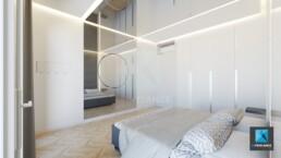 image 3d rénovation appartement - chambre