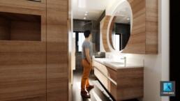 image 3d rénovation appartement - salle de bain