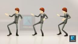 personnage 3D businessman