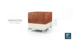 illustration 3d pouf - meuble