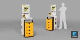 meuble démonstration produit - image 3d